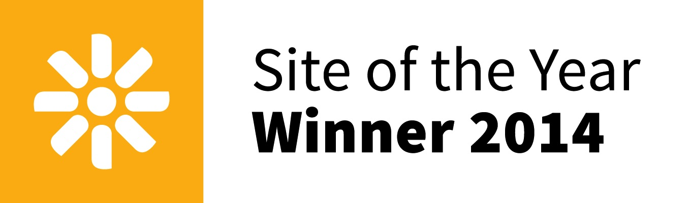 Kentico Site of the Year winner in 2014.