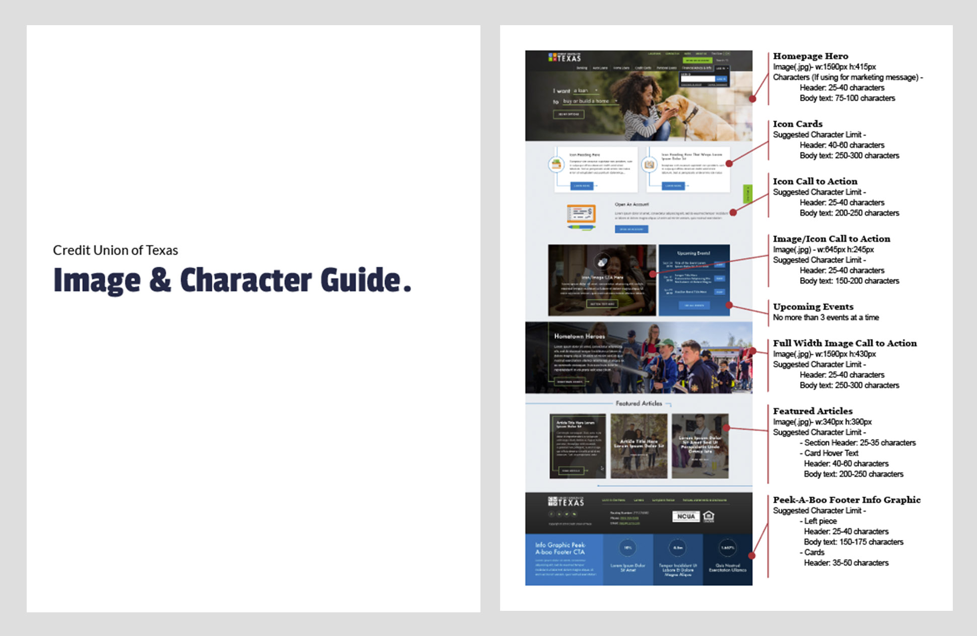 Image and Character Guide to help with content deployment efforts.