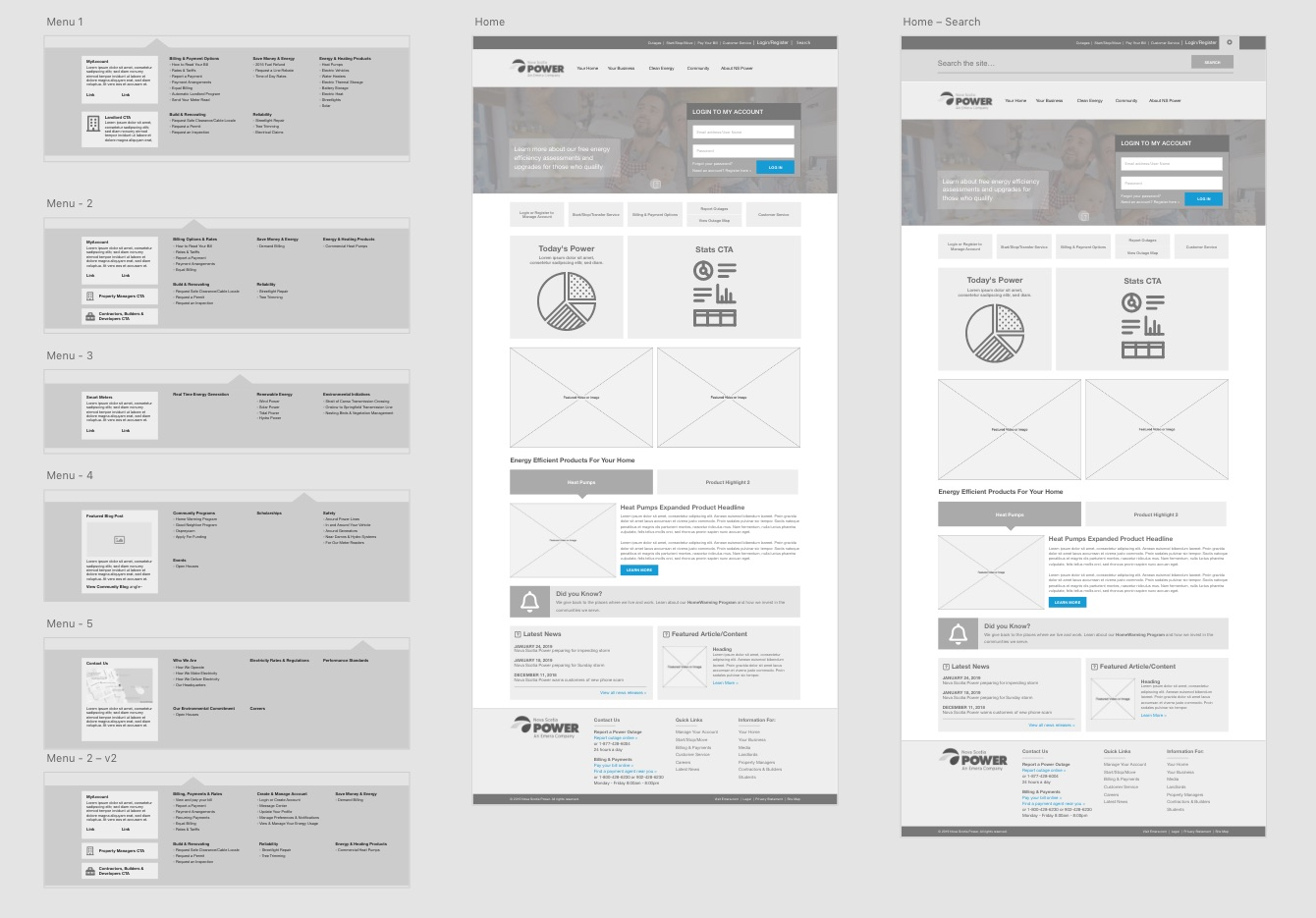 Wireframes.